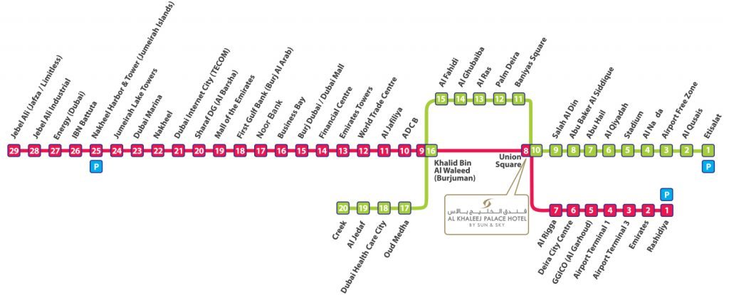 dubai-metro-mappa