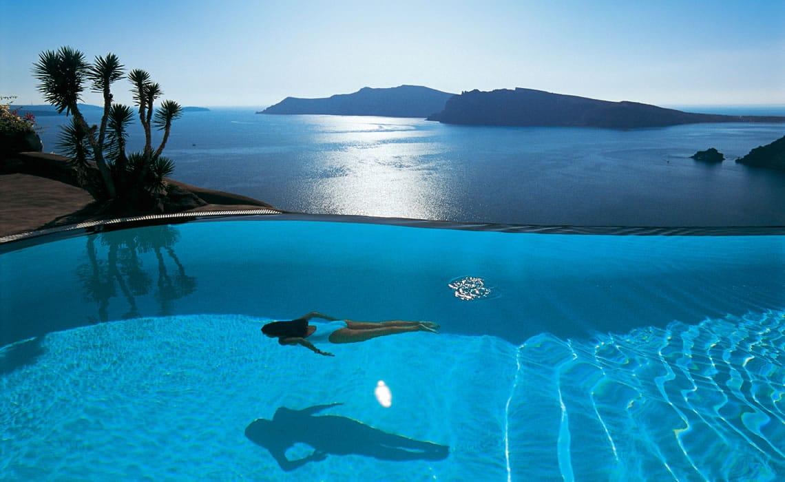 santorini infinity pool