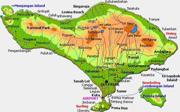 Cartina Bali Indonesia.Bali Isola Degli Dei E Paradiso Indonesiano